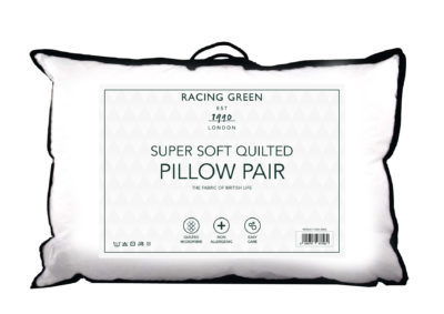 Racing Green quilted pillow pair