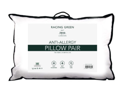 Racing Green anti-allergy pillow pair
