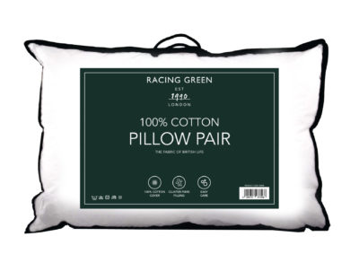 Racing Green 100% cotton pillow pair