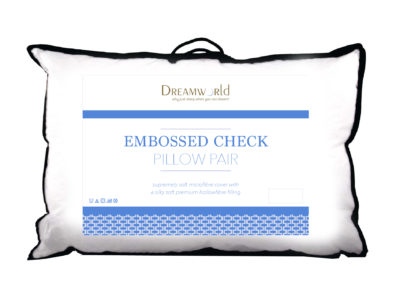 Dreamworld embossed pillow pair