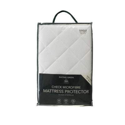 Racing Green Check Microfibre Mattress Protector product image
