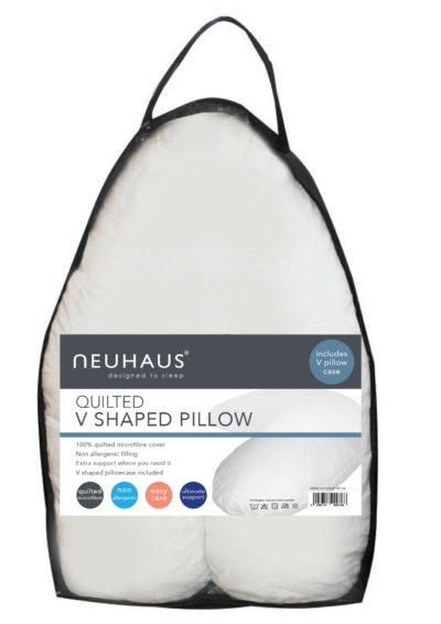 Neuhaus quilted v-shaped pillow